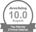Avvo Ratings 10.0 Superb Top Attorney Criminal Defense